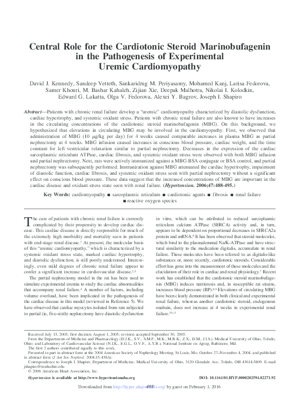 PDF) Central Role for the Cardiotonic Steroid