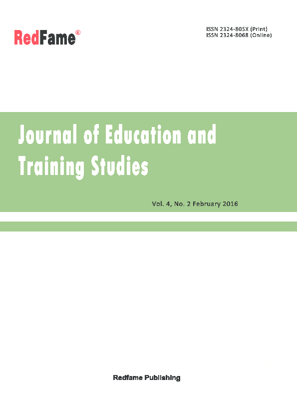 Journal of Education and Training Studies, Vol  4, No  2