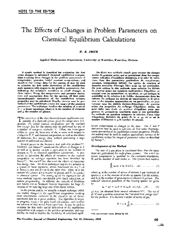 PDF) The effects of changes in problem parameters on
