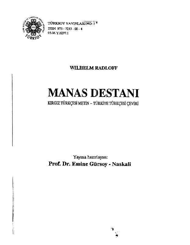 Pdf Epic Of Manas Eyup Boydas Academiaedu