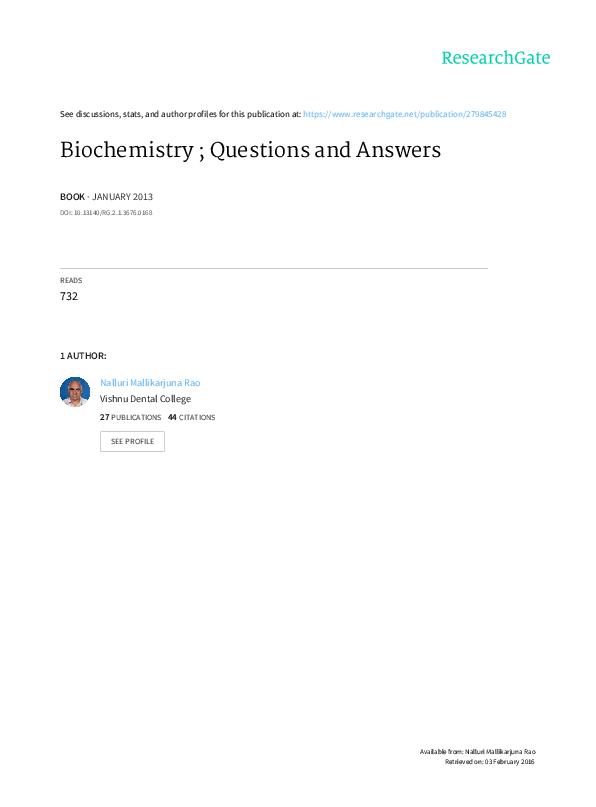 PDF) Biochemistry