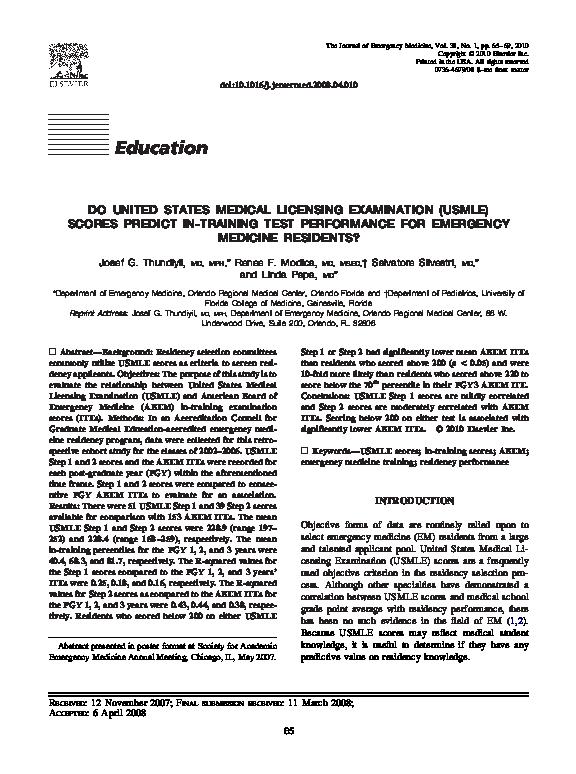 PDF) Do United States Medical Licensing Examination (USMLE