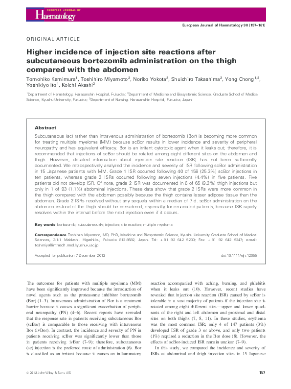 PDF) Higher incidence of injection site reactions after