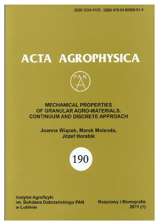 PDF) Mechanical properties of granular agro-materials