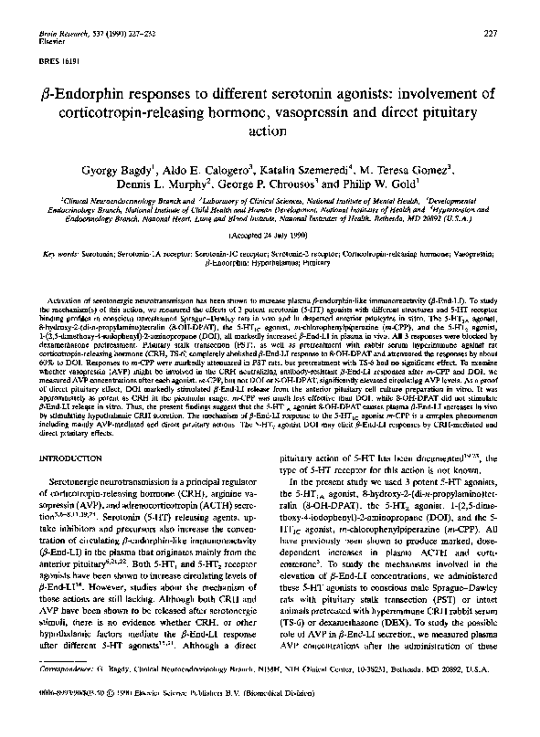 PDF) β-Endorphin responses to different serotonin agonists