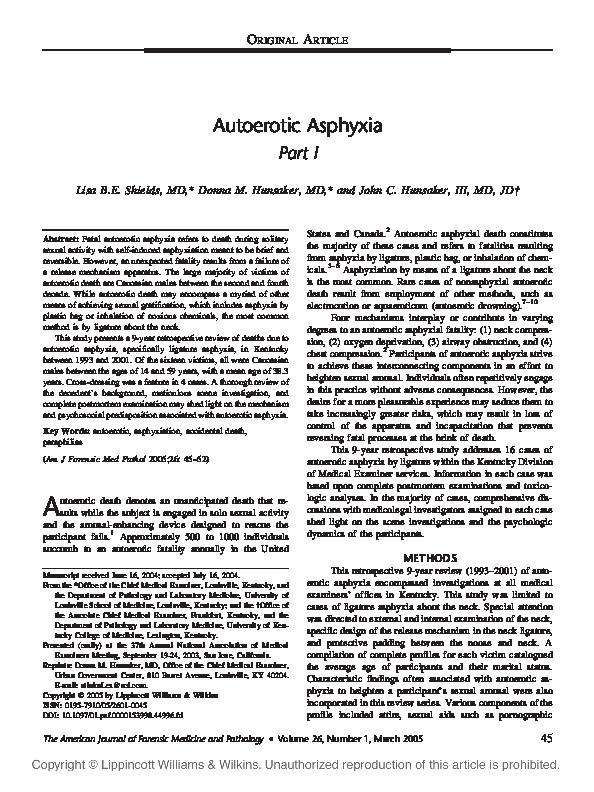 PDF) Autoerotic Asphyxia | Donna Stewart - Academia.edu