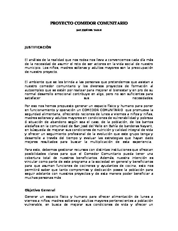proyecto comedor comunitario pepe casta eda
