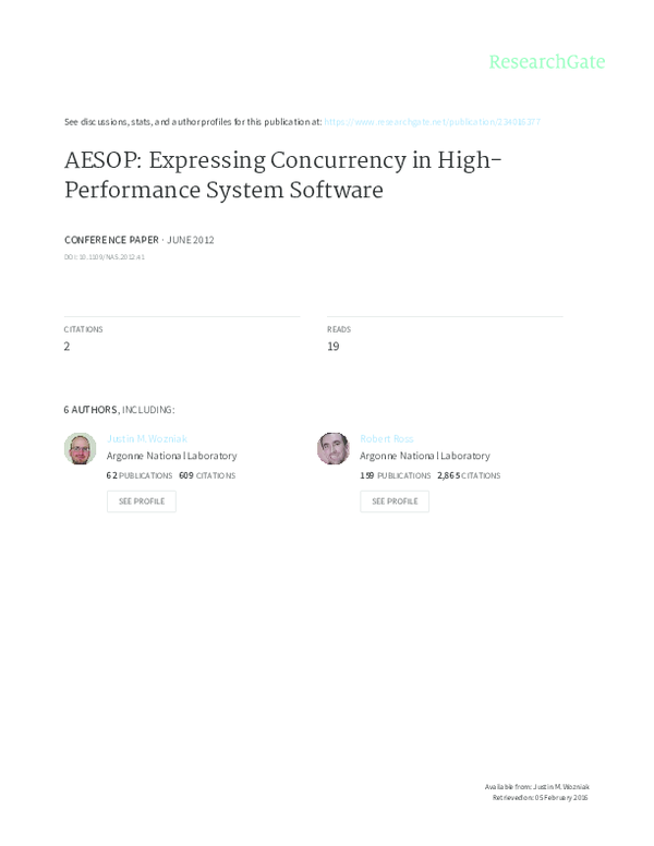 PDF) AESOP: Expressing Concurrency in High-Performance
