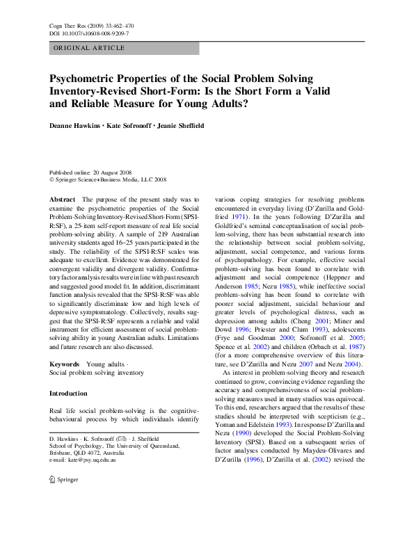 problem solving inventory heppner 1988