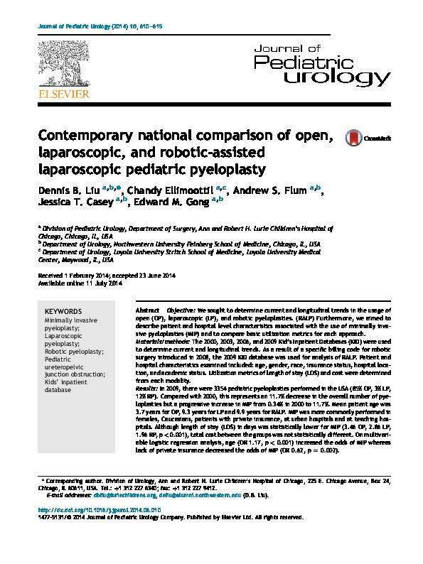 PDF) Contemporary national comparison of open, laparoscopic