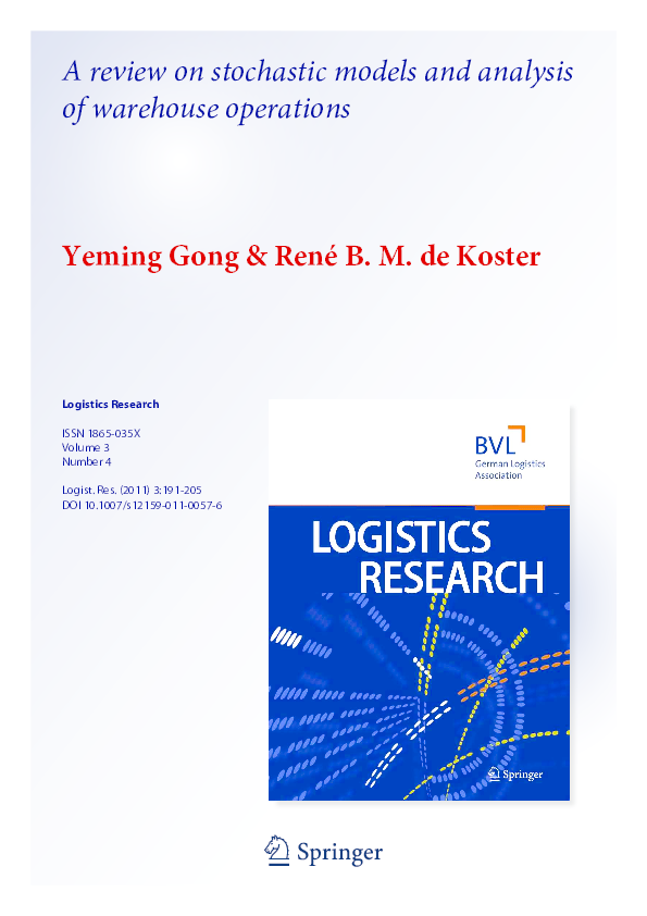 PDF) A review on stochastic models and analysis of warehouse