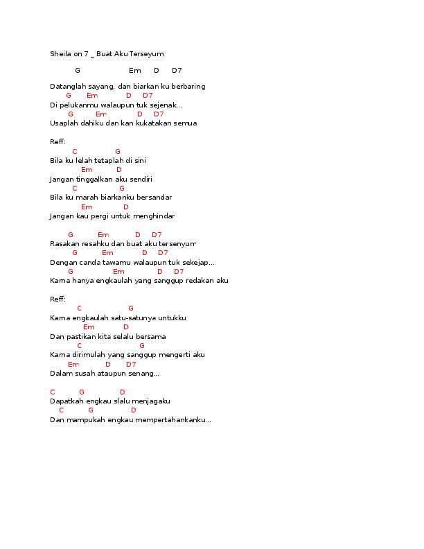 Chord Lagu Waktu Pertama Kali