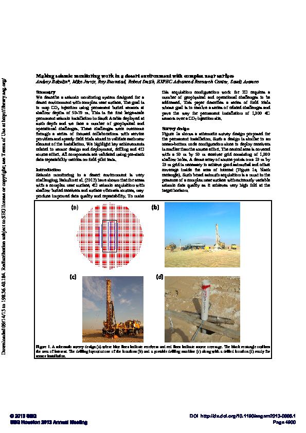 PDF) Making seismic monitoring work in a desert environment