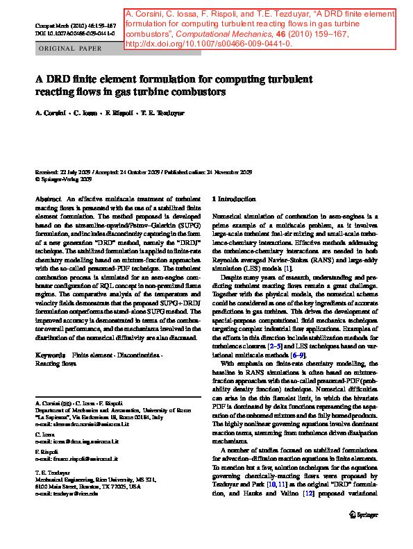 PDF) A DRD finite element formulation for computing