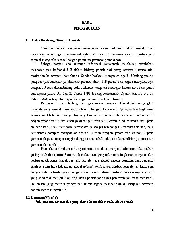 Doc Otonomi Daerah Try Febriani Siregar Academia Edu