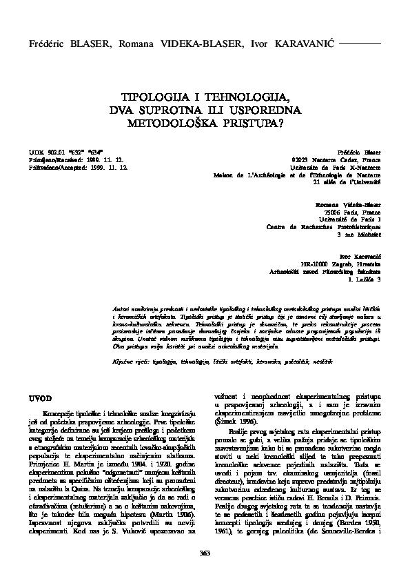 Definicija tipologije datiranja