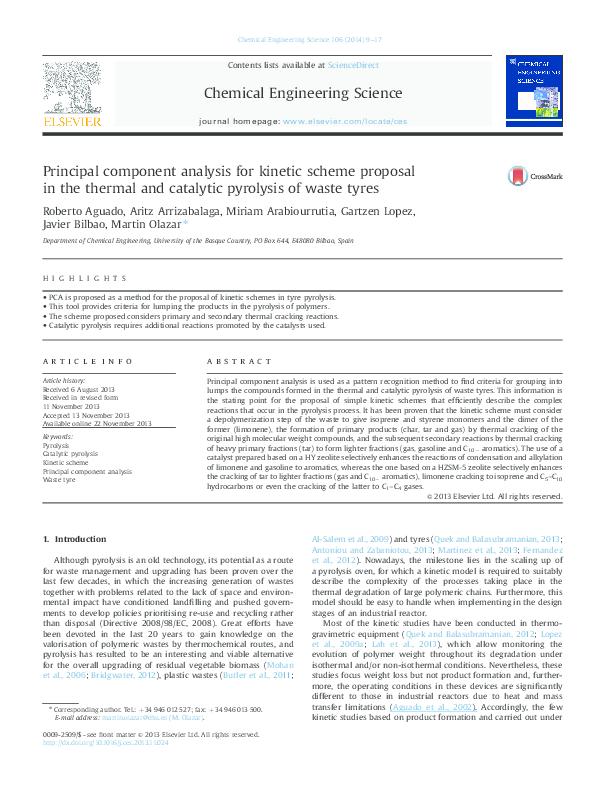 PDF) Principal component analysis for kinetic scheme