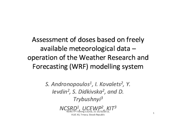 PDF) Assessment of doses based on freely available meteorological