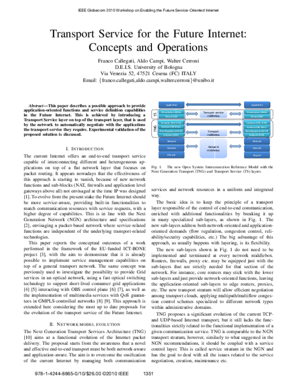 PDF) Transport service for the Future Internet: Concepts and