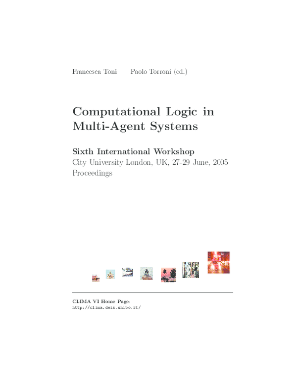 PDF) Computational Logic in Multi-Agent Systems: 12th