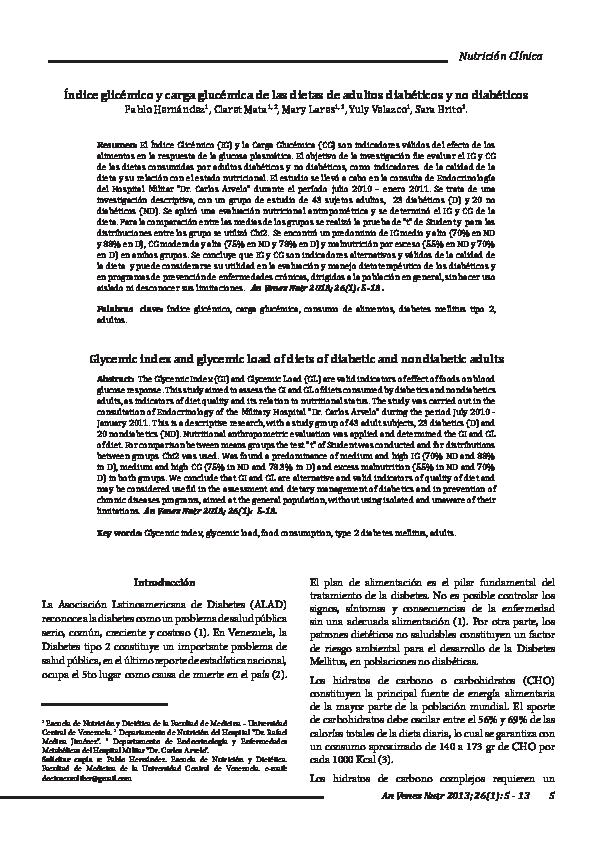 Dietas con bajo indice glucemico pdf