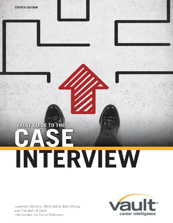 PDF) Vault Guide to the Case Interview, 8th Edition | Geng