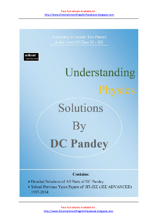 Dc Pandey Electricity And Magnetism Book Pdf