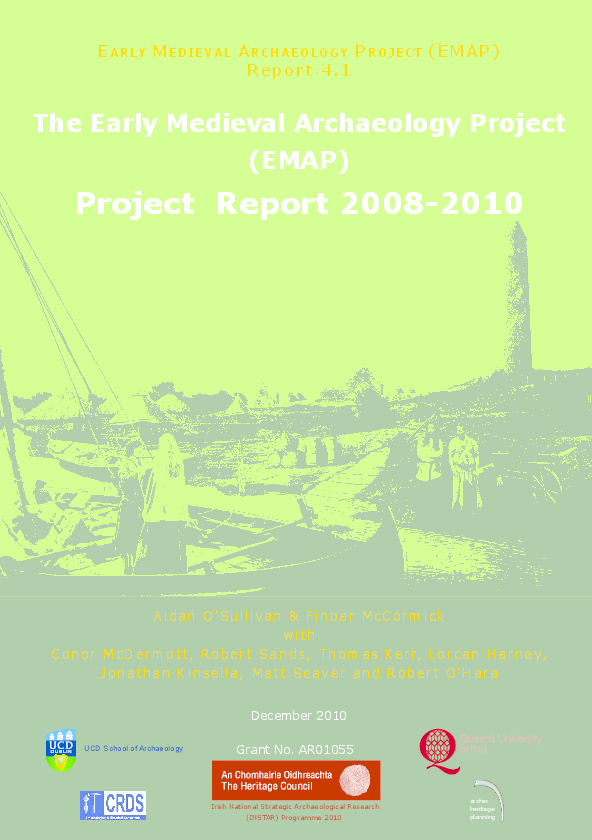 The Early Medieval Archaeology Project Emap Aidan Osullivan