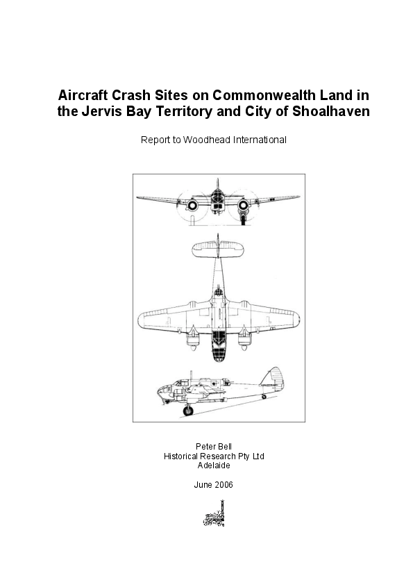 PDF) Aircraft Crash Sites on Commonwealth Land in the Jervis Bay