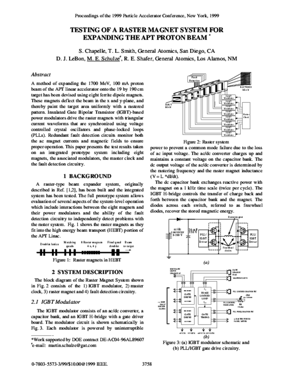 PDF) Testing of a raster magnet system for expanding the APT