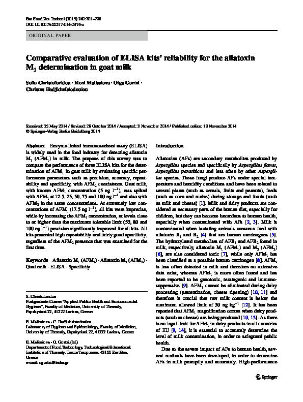 PDF) Comparative evaluation of ELISA kits' reliability for