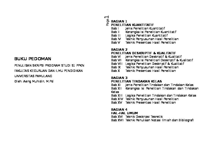 Skripsi Bab 3 Kuantitatif Ide Judul Skripsi Universitas