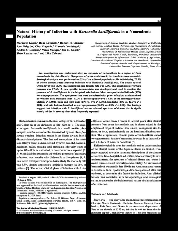 Bartonella Bacilliformis Pdf