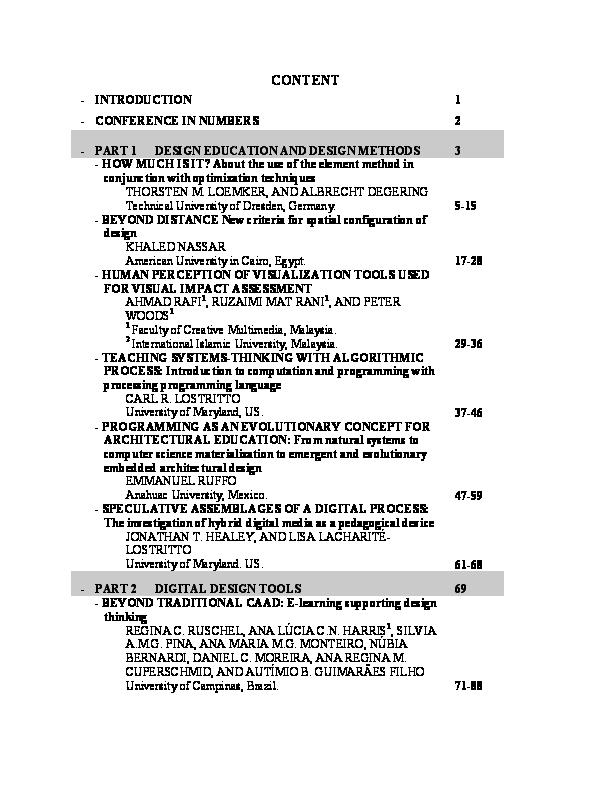 PDF) Digitizing Architecture: formalization & content | Amar