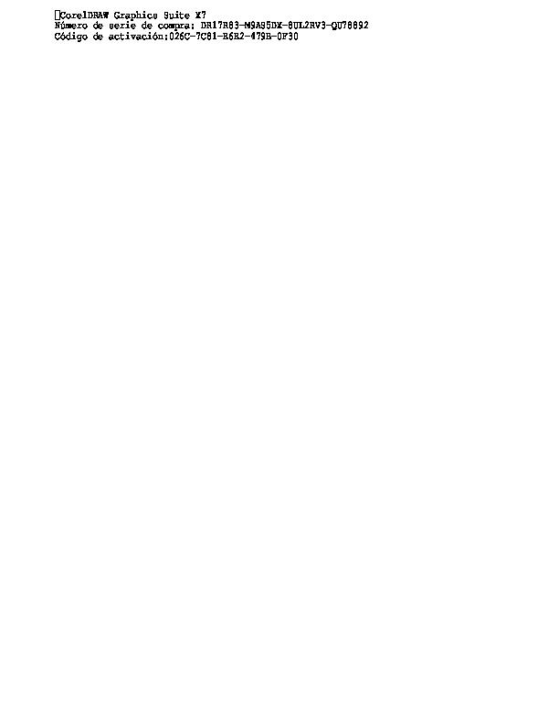 numero de serie para desbloquear corel draw 2017