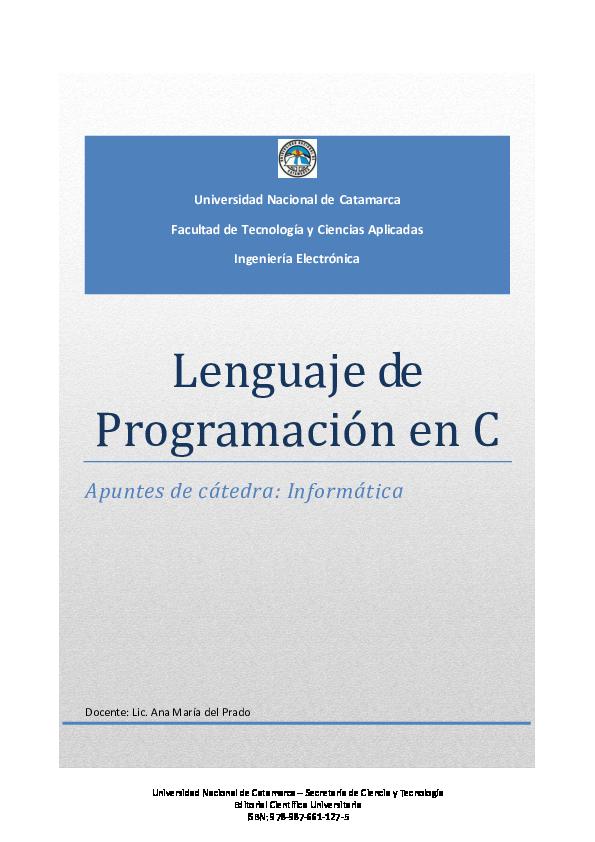 Pdf Lenguaje De Programación En C Raquel Arce Academia Edu