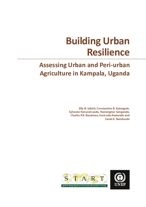 PDF) Assessing Urban and Peri-urban Agriculture in Kampala