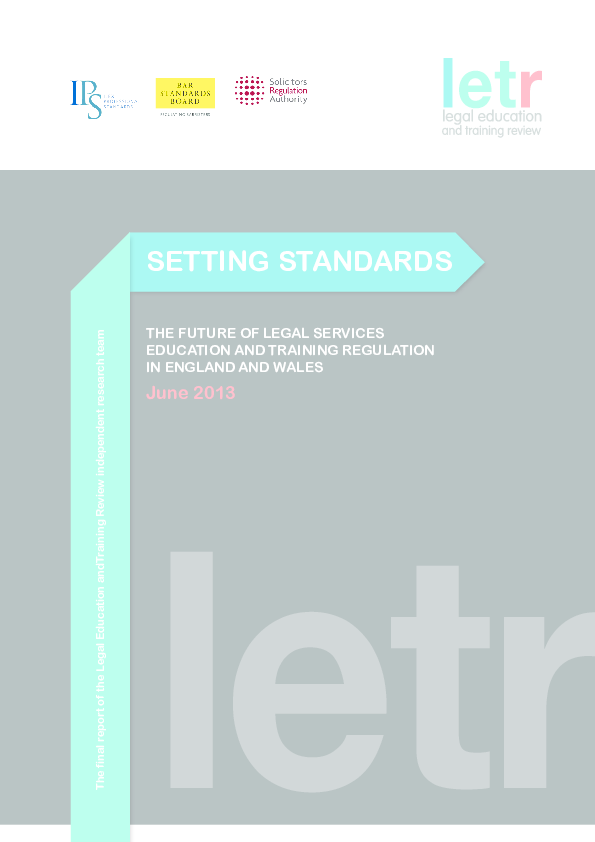PDF) Setting Standards: The Future of Legal Services
