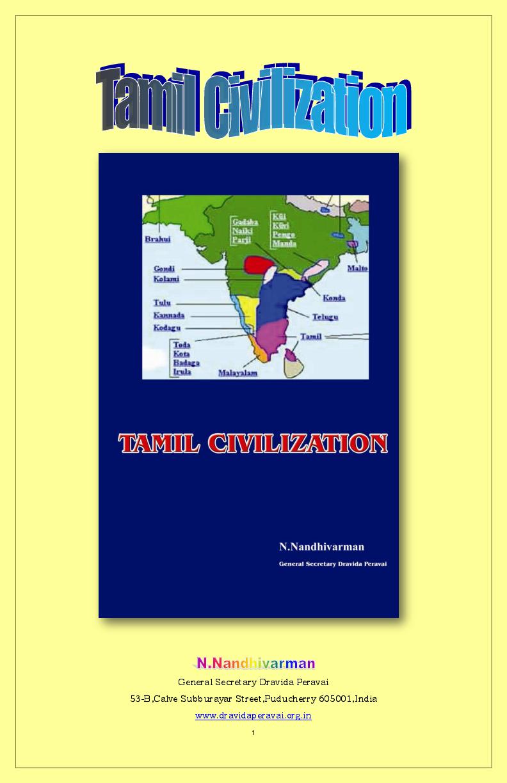 PDF) TAMIL CIVILISATION | Nandhi Varman - Academia edu