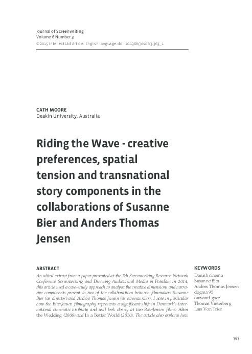 PDF) Riding the wave- creative preferences, spatial tension