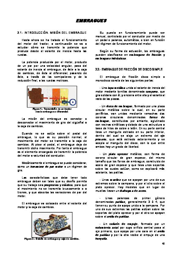 Tipos de embrague pdf