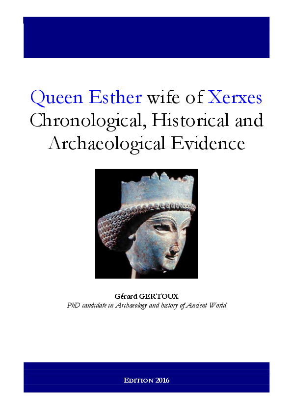 Queen Esther Wife Of Xerxes Chronological Historical And