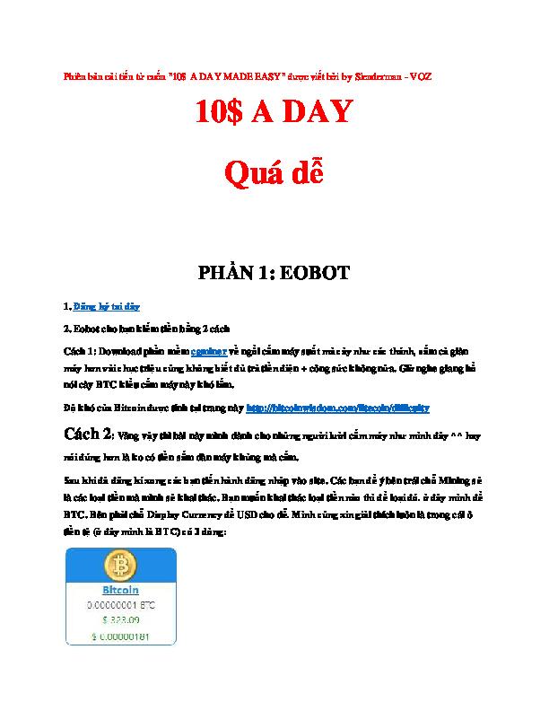 PDF) 0$ A DAY Quá dễ PHẦN 1: EOBOT | Dat Le Nguyen