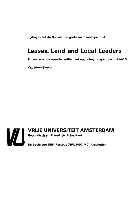 PDF) Leases, Land and Local Leaders An analysis of a