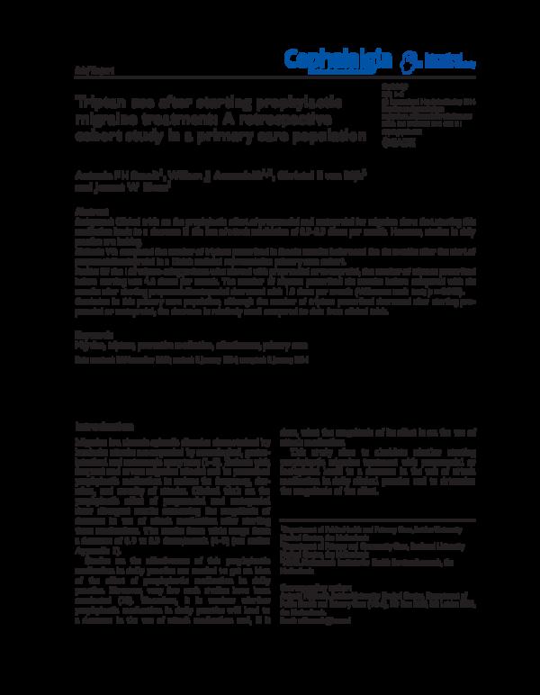 Triptan therapy in migraine pdf reader