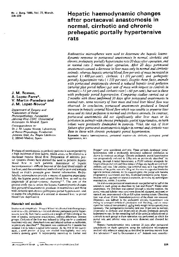 Anastomosis portacavales