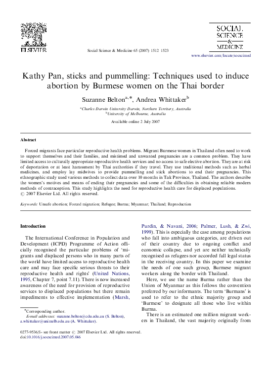 PDF) Kathy Pan, sticks and pummelling: Techniques used to