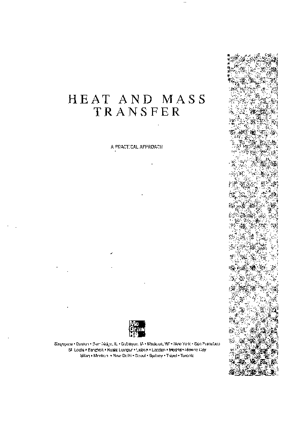 PDF) HEAT AND MASS TRANS FER | Danial Mir - Academia edu