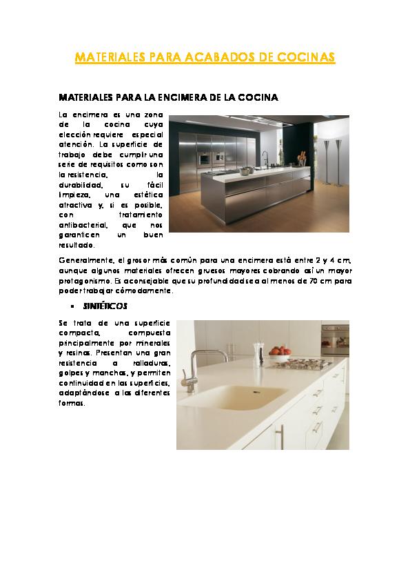 Pdf materiales para acabados de cocinas leila lucero - Materiales de cocinas ...