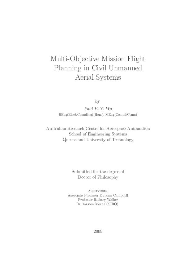 PDF) Fuzzy Multi-Objective Mission Flight Planning in